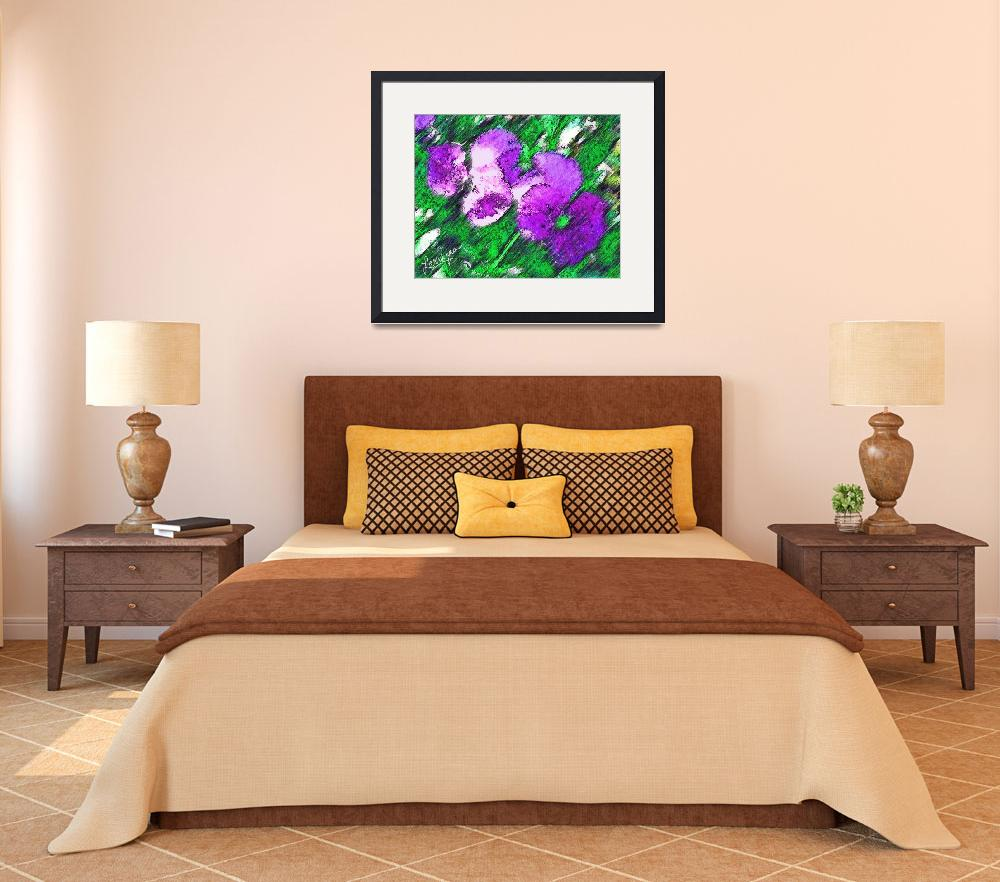 """""""Pansies&quot  (2008) by aglaeafinearts"""