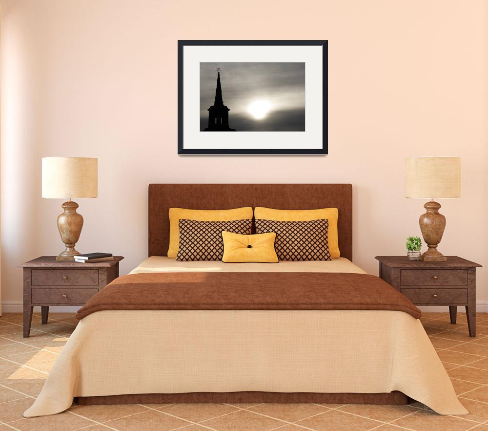 """""""Steeple Silhouette&quot  (2011) by MalcNewell"""
