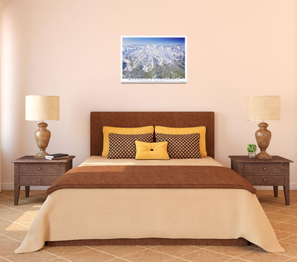 """""""Mammoth Resort California&quot  (2008) by jamesniehuesmaps"""