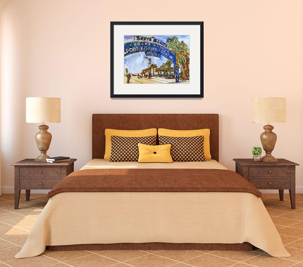 """""""Los Angeles Painting, Art of California, watercolo&quot  (2011) by schulmanart"""