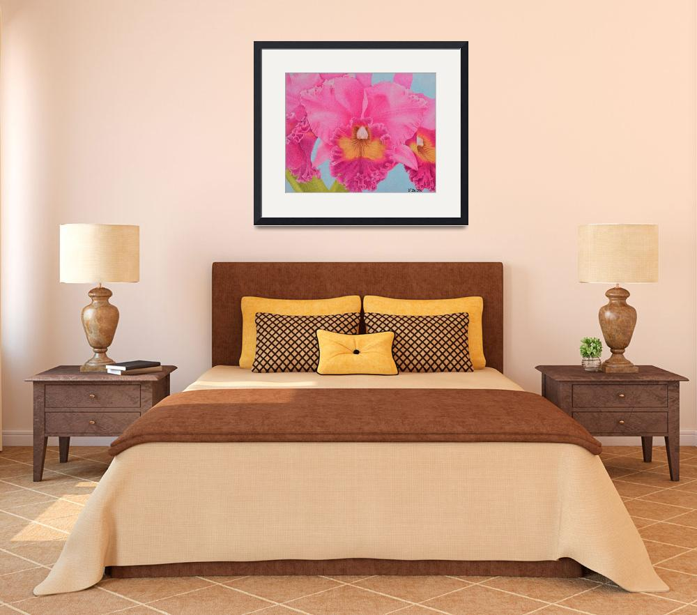 """""""Pink Orchid""""  by sharonpattersonsart"""
