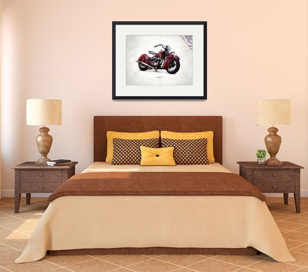 """""""The Indian Chief 1941 Motorcycle""""  by mark-rogan"""