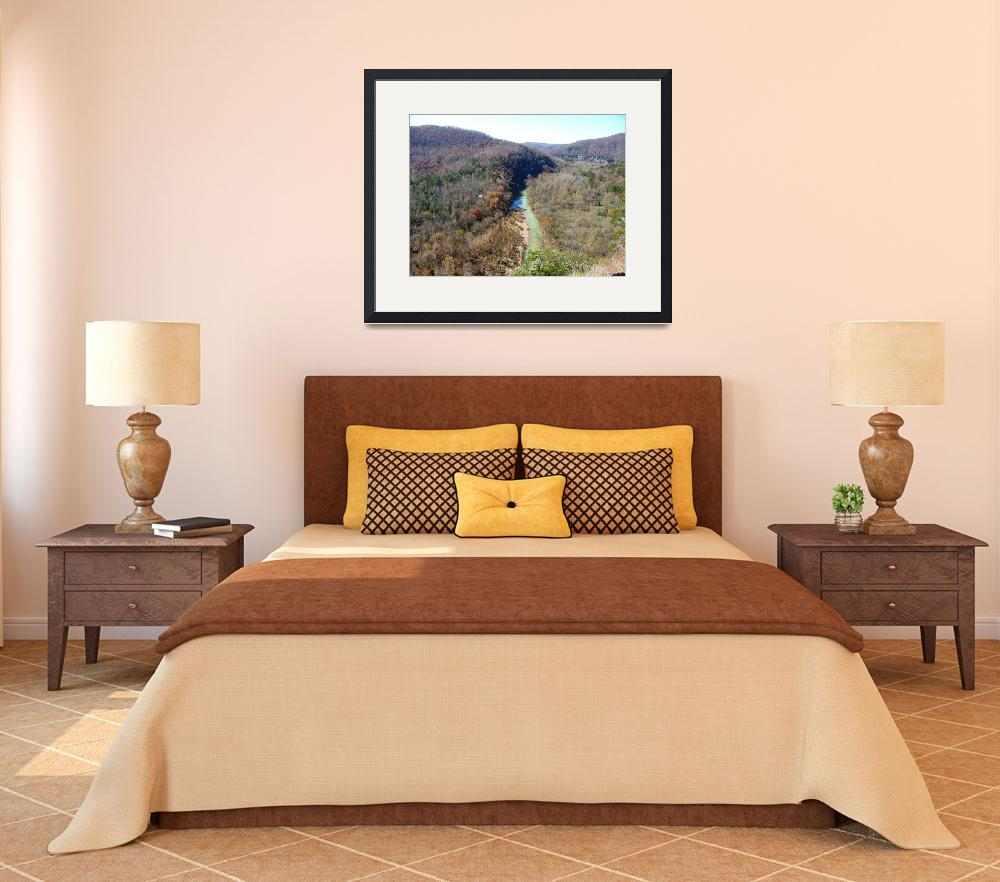 """""""Buffalo River Overlook From Big Bluff&quot  (2009) by randyoller"""