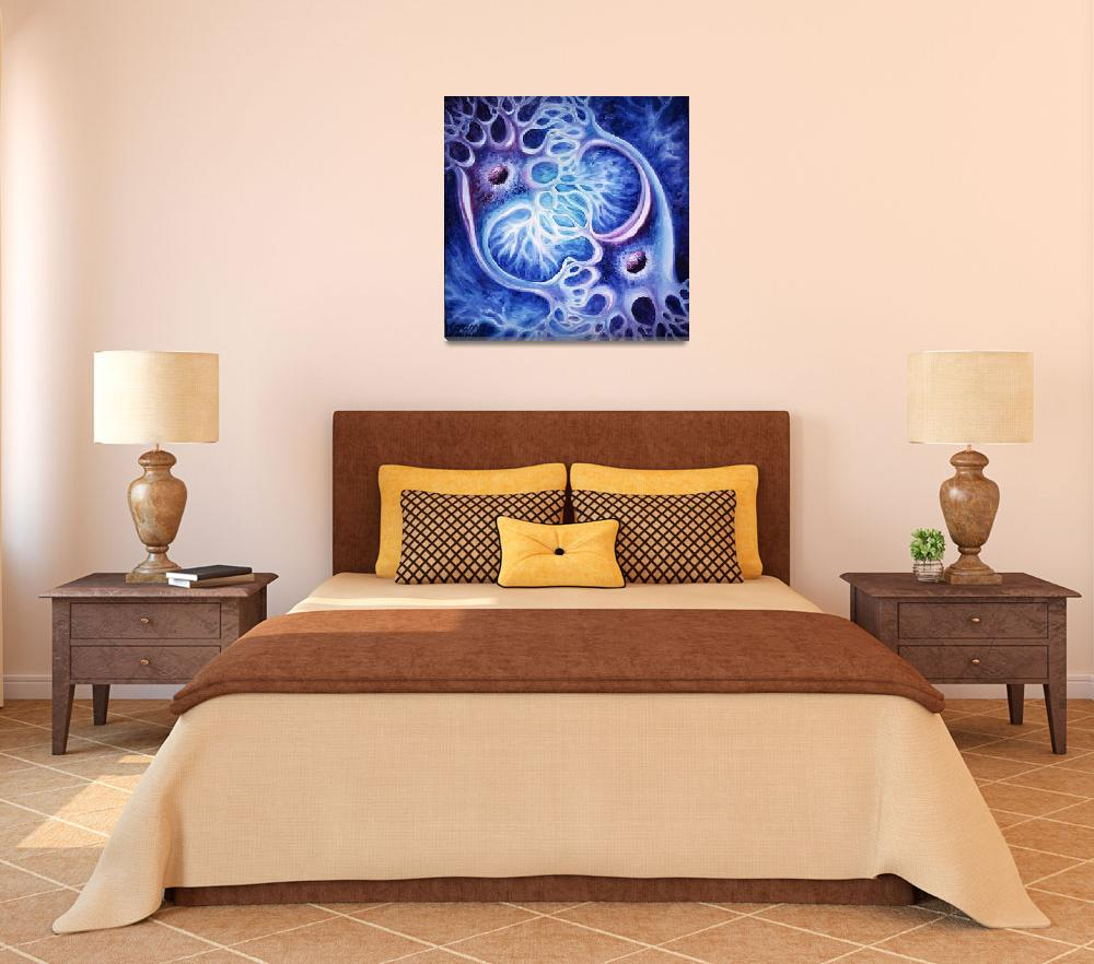"""""""Neurons oil on canvas painting&quot  by Korinna"""