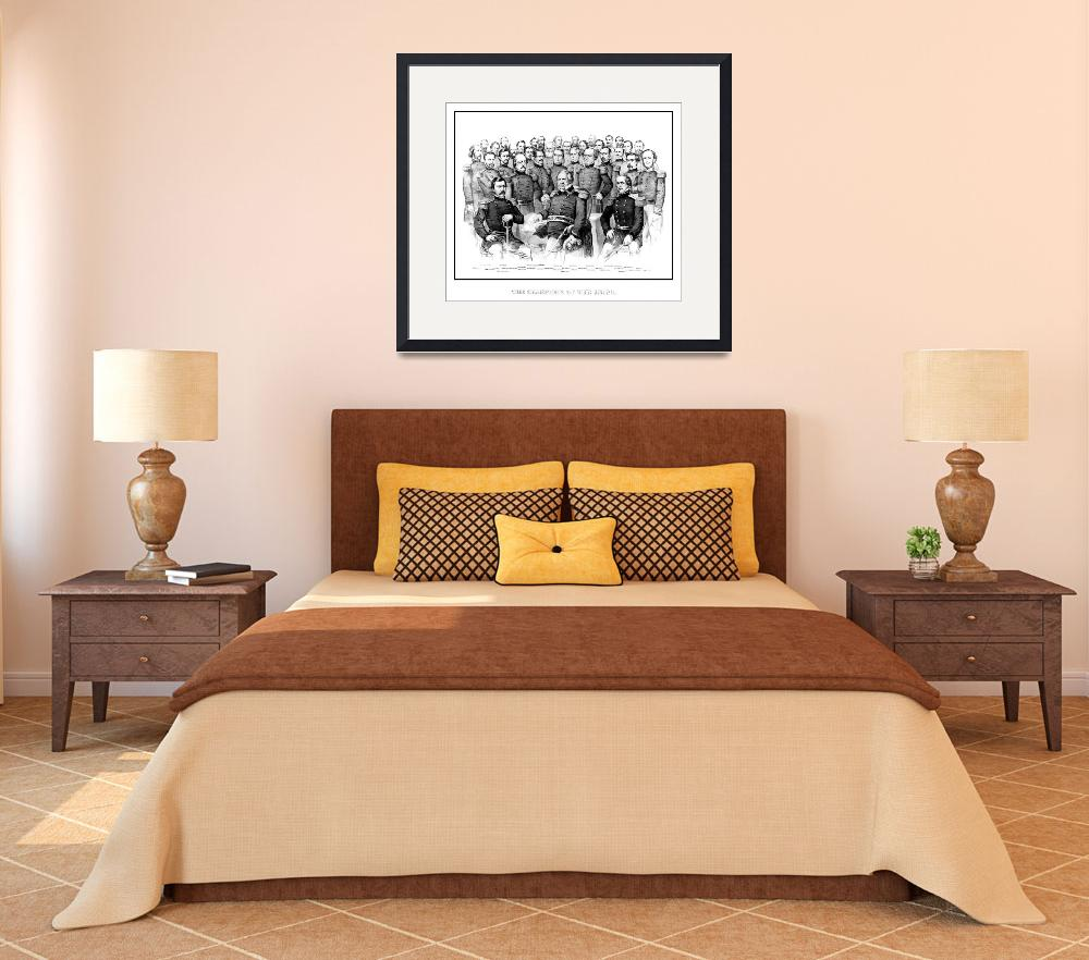 """""""American Civil War print featuring a group portrai""""  by stocktrekimages"""