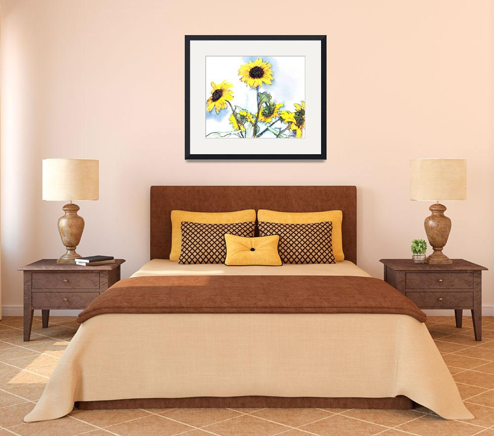 """""""Sunflowers II&quot  (2009) by Cindisart"""