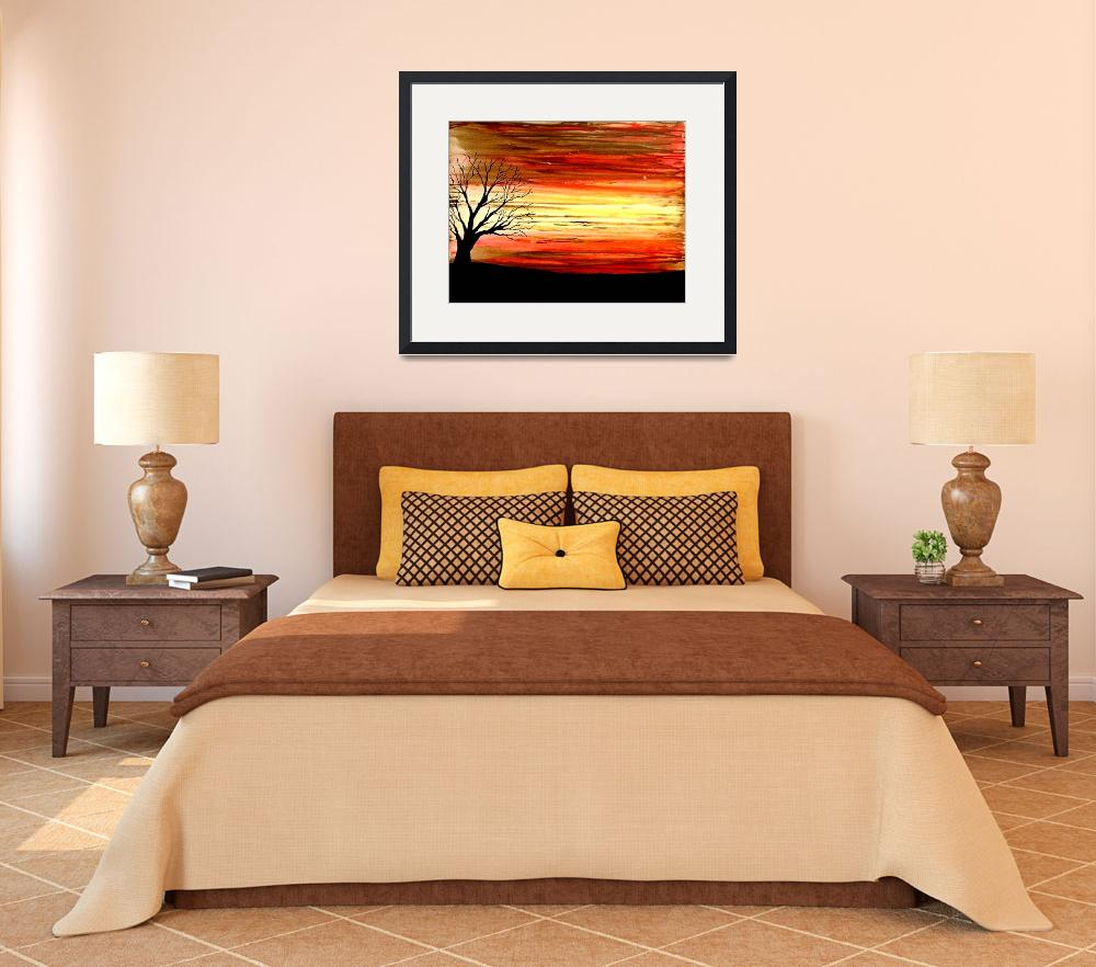 """""""ABSTRACT BEAUTIFUL SUNSET&quot  (2008) by teofaith"""
