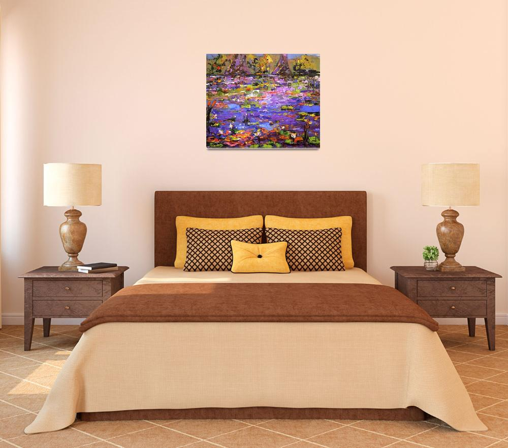 """""""Lily Pond 2 Oil Painting by Ginette Callaway&quot  by GinetteCallaway"""
