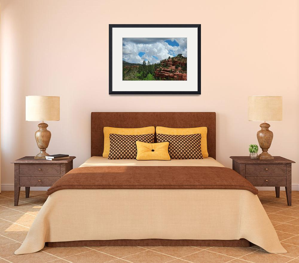 """""""Red Rock Outcrop&quot  by WrightFineArt"""