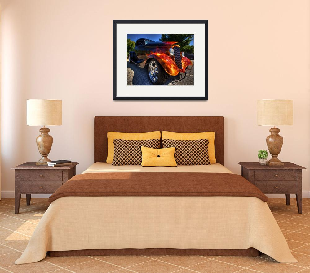 """""""1928 ford real flames&quot  (2011) by jnealg"""