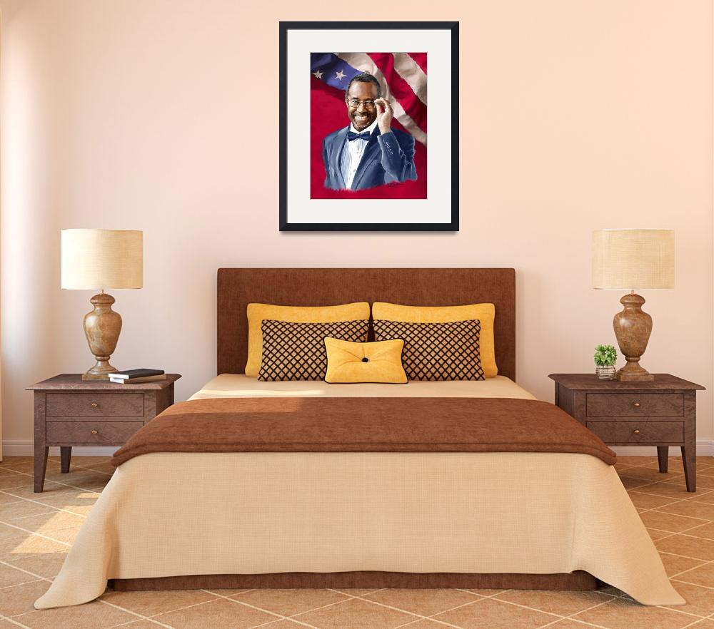 """""""Dr. Ben Carson wFlag&quot  by Tim"""