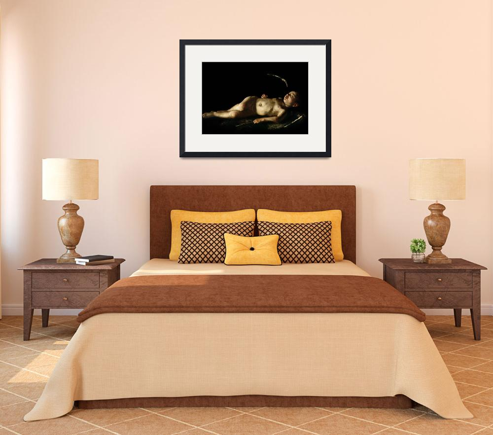 """""""Sleeping Cupid by Caravaggio&quot  by fineartmasters"""