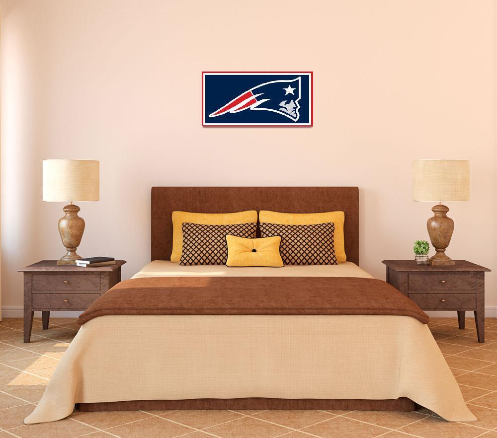 """New England Patriots""  (2015) by RubinoFineArt"