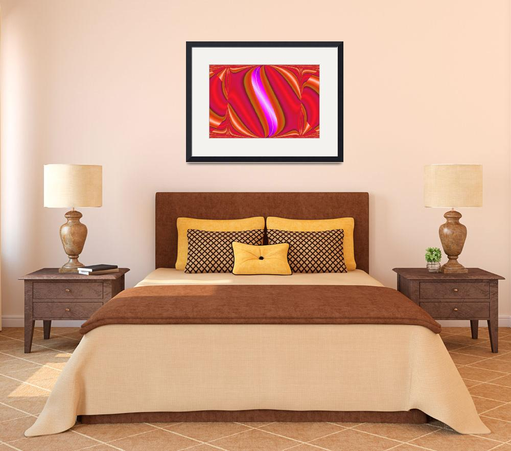 """""""bright red abstract&quot  by DonnaGrayson"""