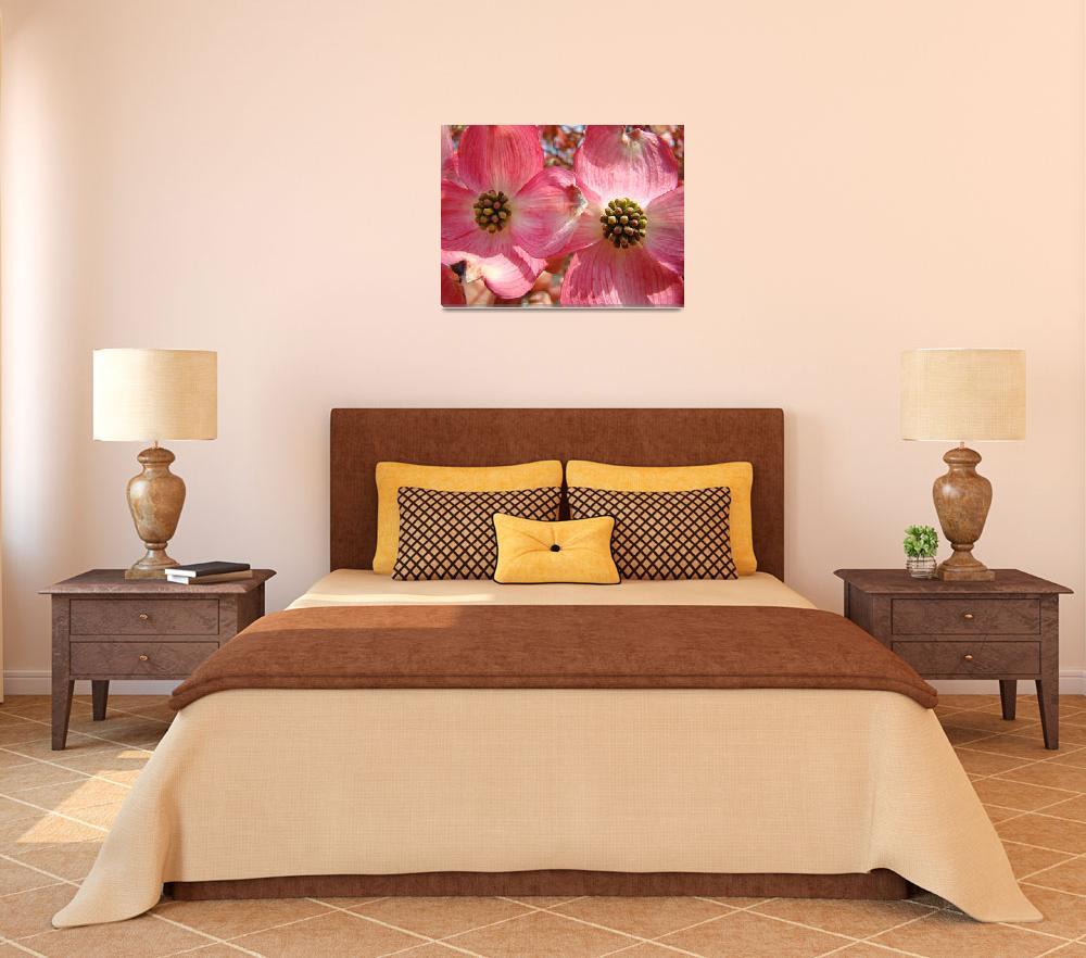 """Beautiful Pink Dogwood Flowers art print Floral&quot  (2010) by BasleeTroutman"