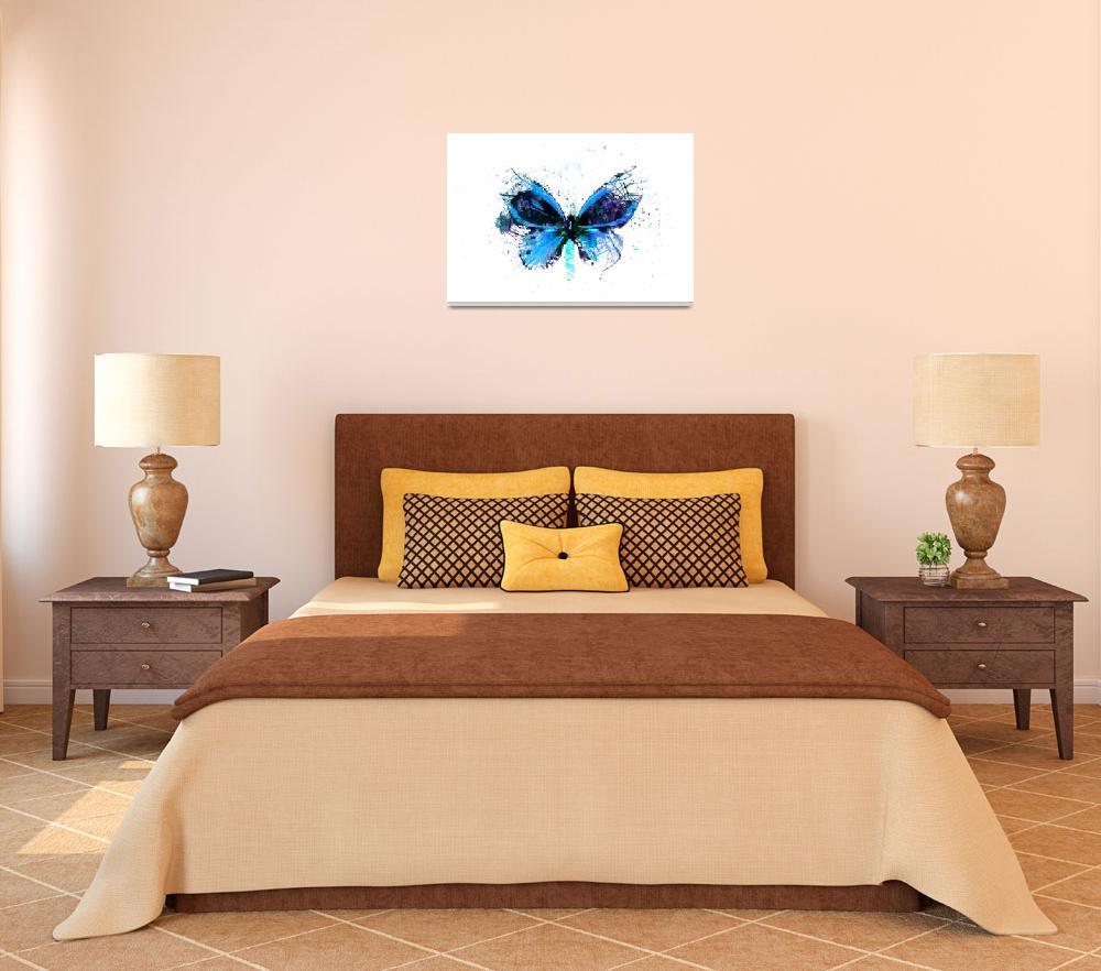 """""""Forgotten - Blue Butterfly - Art - Digital Print&quot  (2013) by artificialhappiness"""