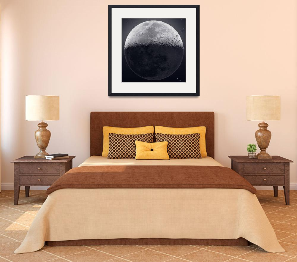 """""""Our Moon in HDR (Up Close)""""  by cosmic_background"""