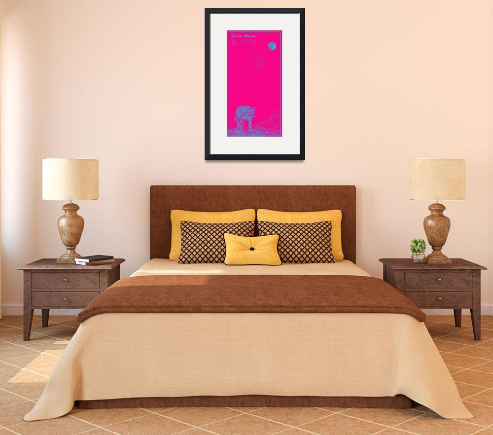 """Africa Travel Poster in pink&quot  by motionage"