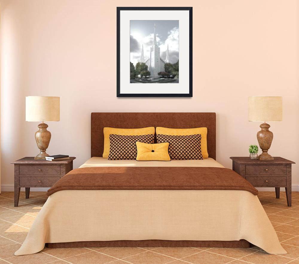 """""""Portland Temple Large-16x20-tinted&quot  by TerrySpringer"""