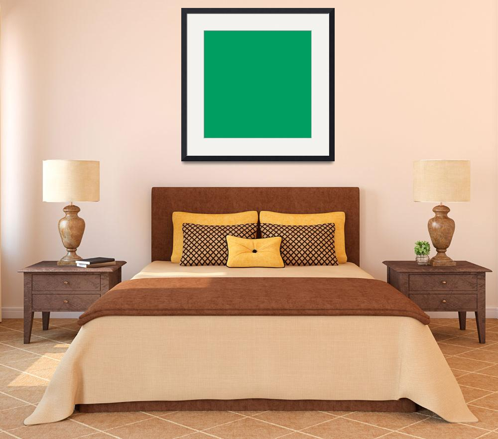 """""""Square PMS-347 HEX-009E60 Green&quot  (2010) by Ricardos"""