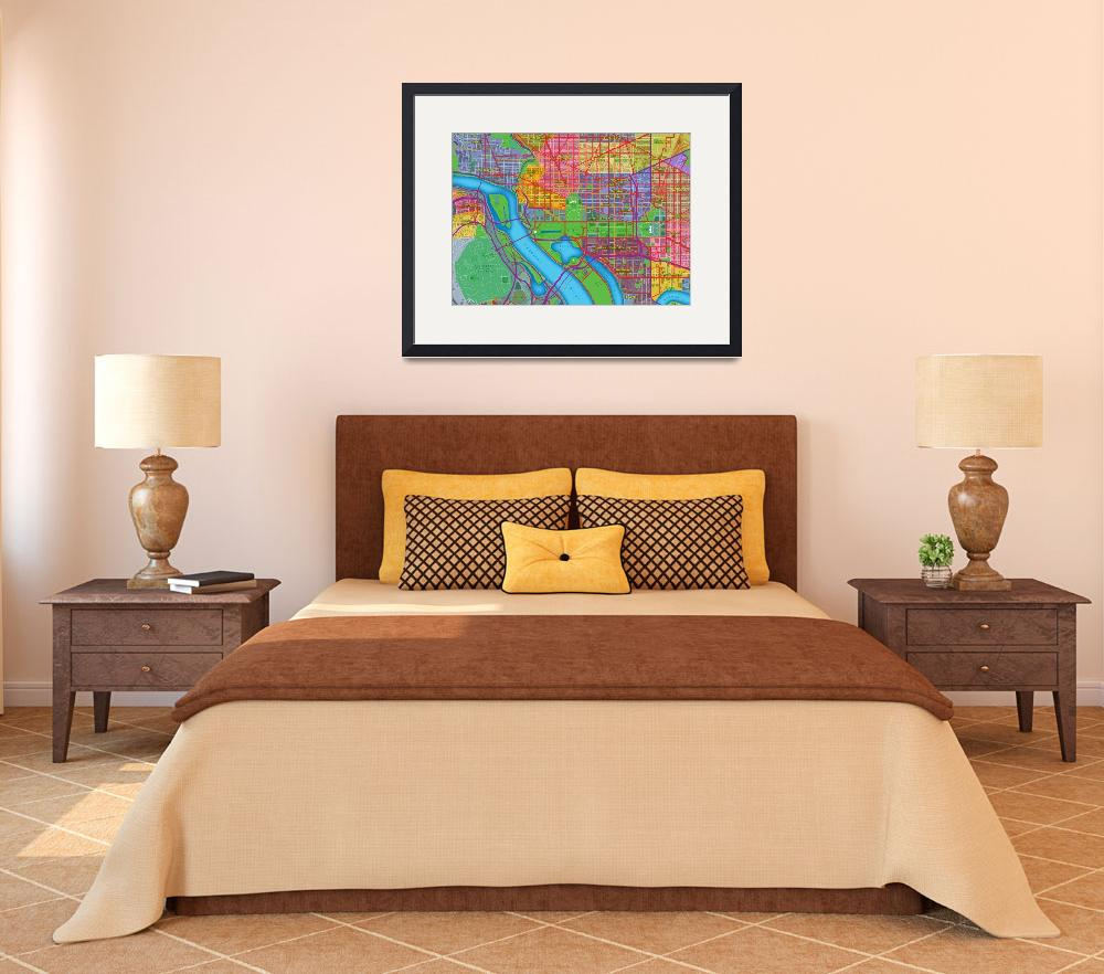 """Washington, DC Map Art&quot  (2013) by Hein"