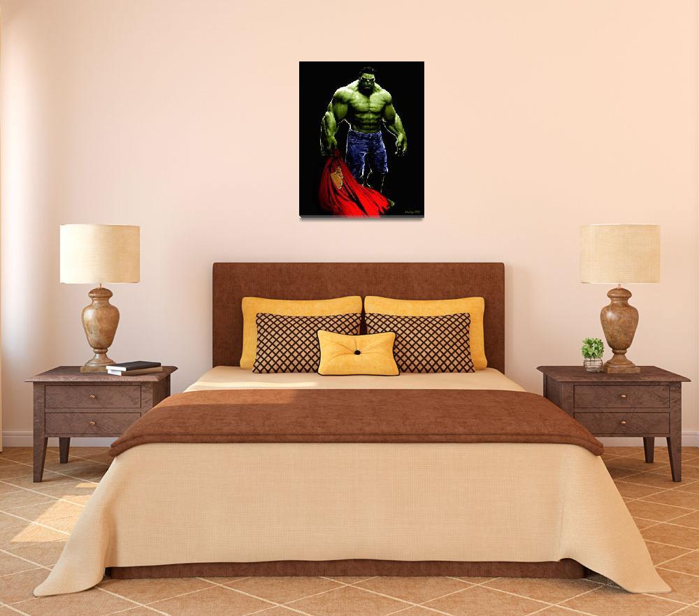 """Hulk vs Superman""  (2010) by Khailey"