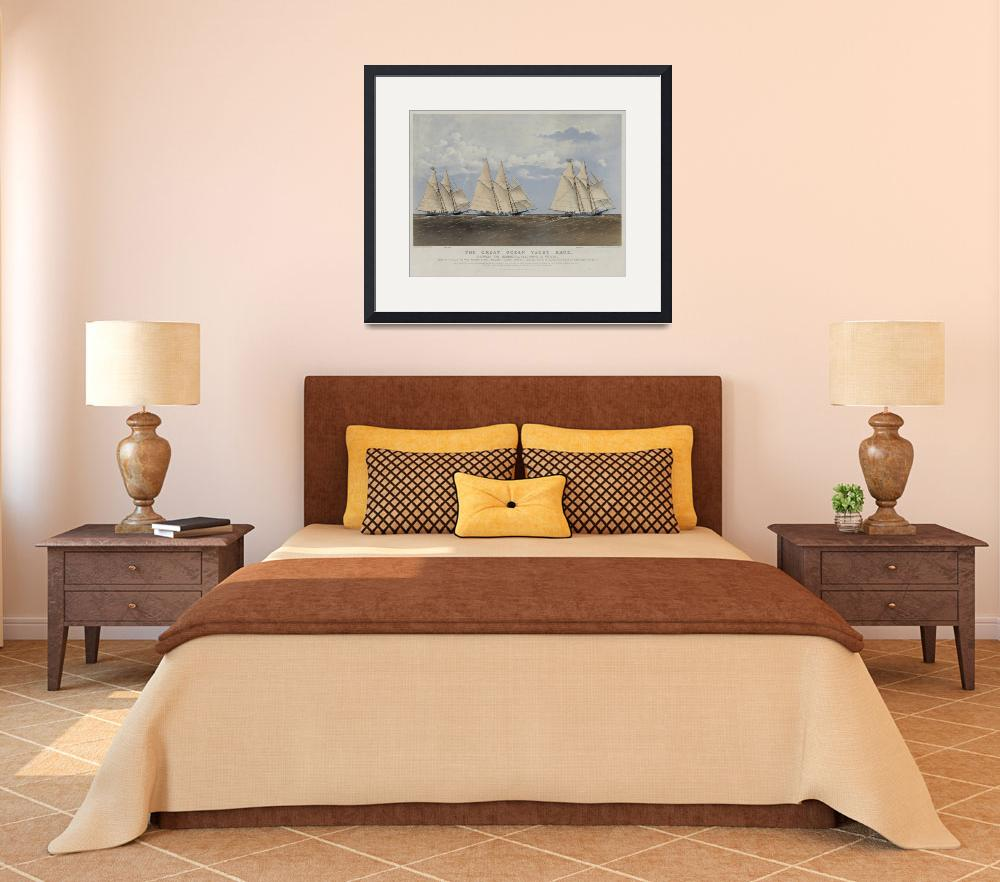 """""""Vintage Yacht Race Illustration (1867)&quot  by Alleycatshirts"""