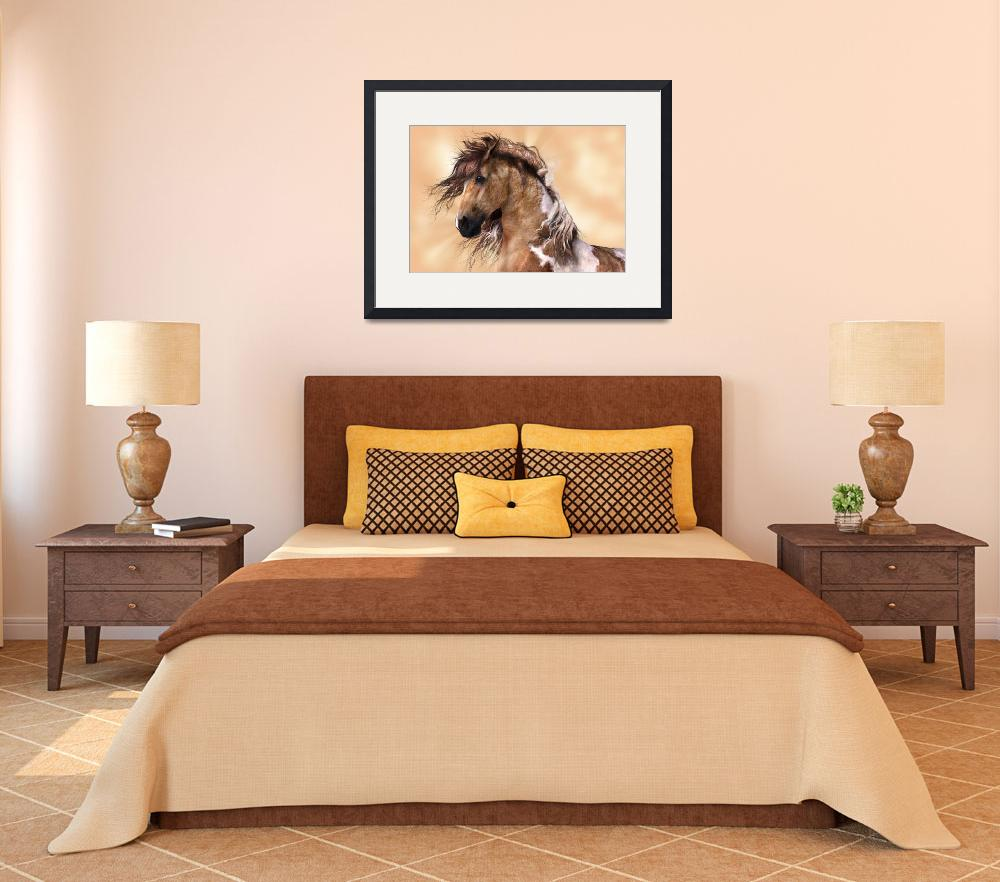 """""""Golden Brown Paint Horse""""  (2013) by walbyent"""