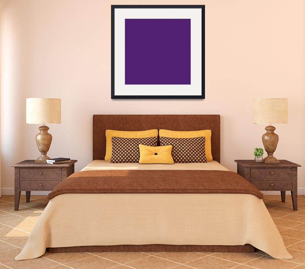 """Square PMS-268 HEX-4F2170 Purple Blue Violet&quot  (2010) by Ricardos"