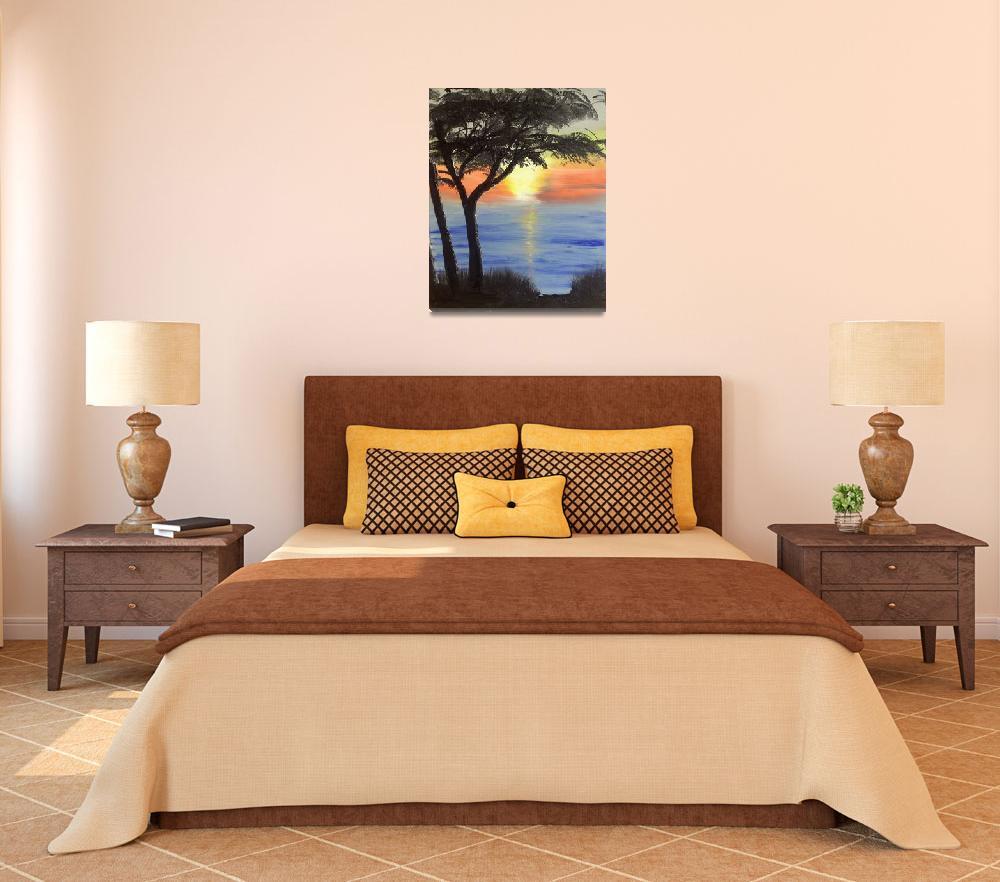 """Sunset Tree""  (2008) by JSutherland"