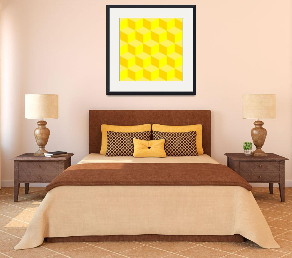 """""""psychedelic pattern mixed yellow&quot  by robertosch"""