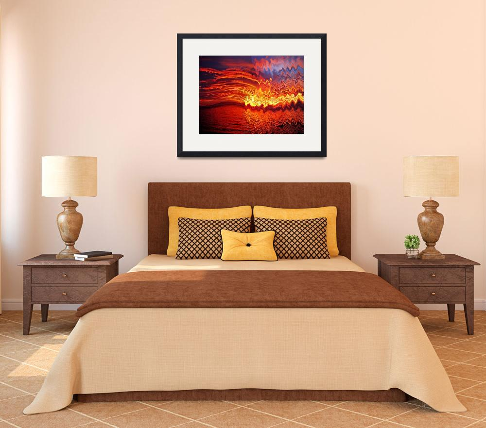"""""""red sunset no. 7 – a bloody red sunset""""  (2010) by sunsetcolors"""