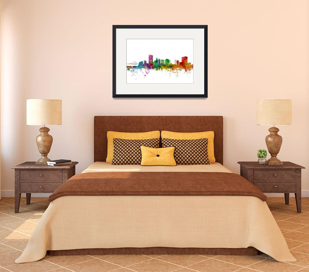 """Toledo Ohio Skyline&quot  (2014) by ModernArtPrints"