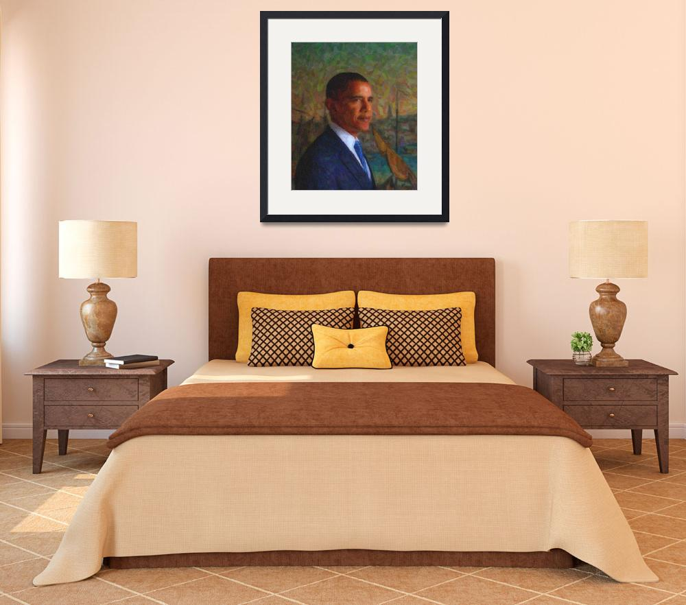 """""""Abstract Portrait of President Barack Obama 33&quot  by motionage"""