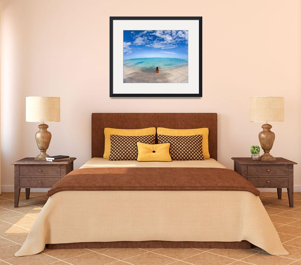 """""""Hawaii, Woman Laying On The Beach In Remote Tropic&quot  by DesignPics"""