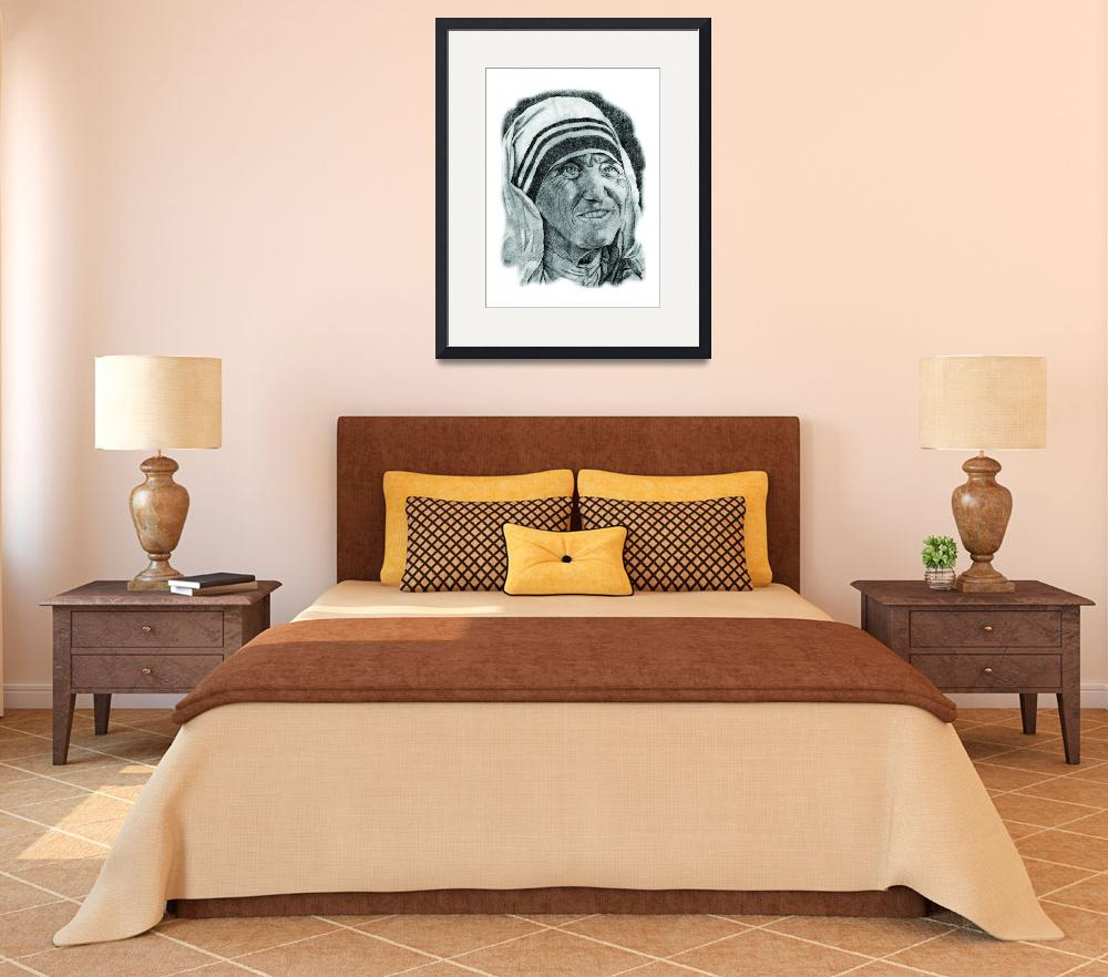 """""""Hand Drawn Portrait of Mother Teresa&quot  by CreativeArtisticNuance"""
