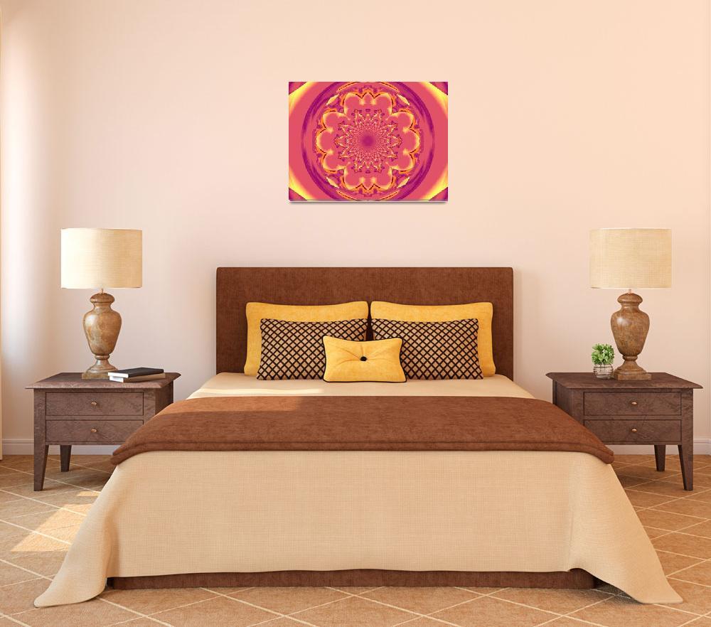 """Calm Orange  Lotus Mandala 1&quot  by Atlantis-Seeker-Art"