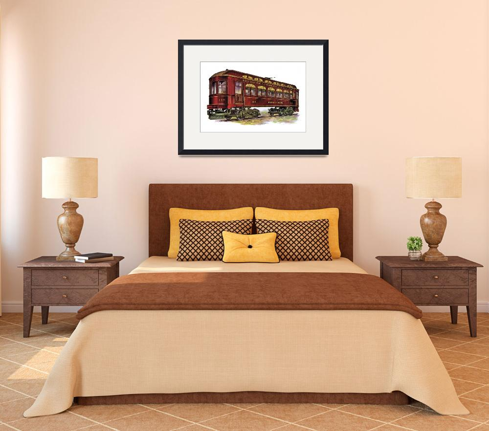"""""""Harmony Route Railway Car&quot  (1914) by PaperTimeMachine"""