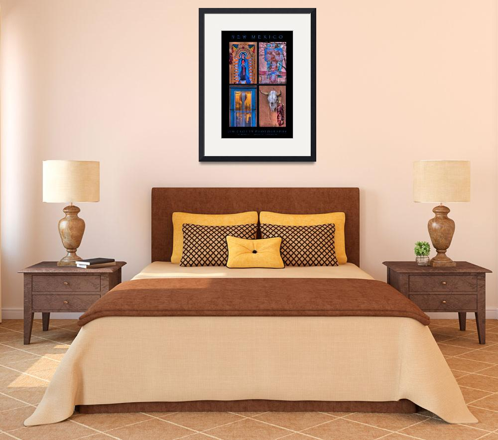 """""""New Mexico Four Image Poster Print""""  (2009) by jimcrotty"""