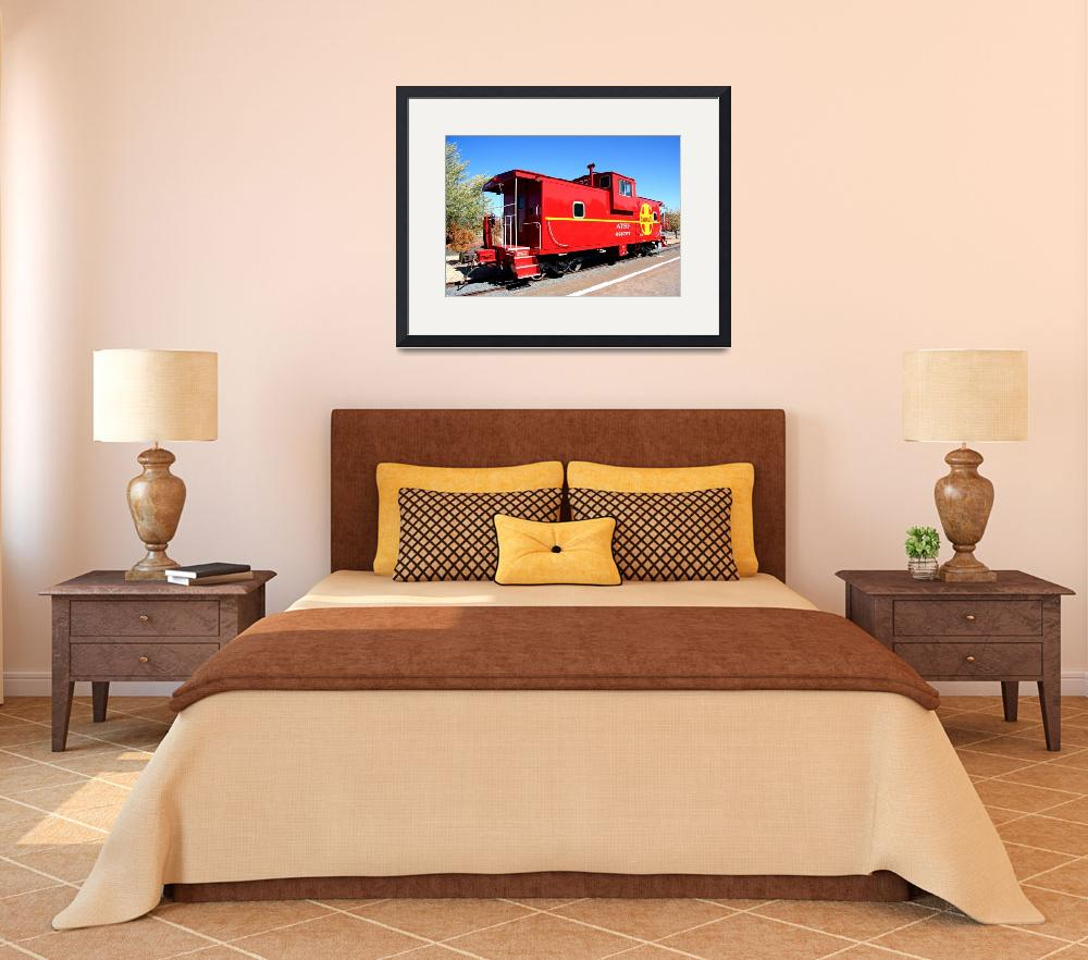 """""""Old Red Caboose 0024&quot  (2009) by rayjacque"""