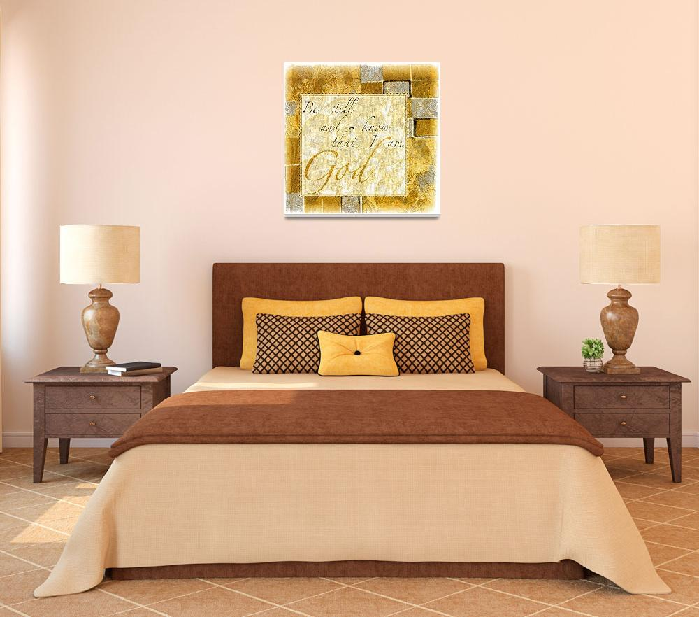 """""""be still color block gold illustration""""  by lizmix"""