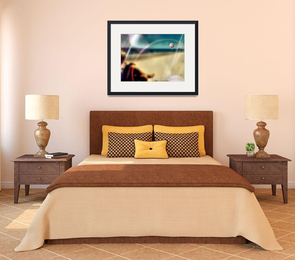 """""""nancy on the beach 300 dpi text""""  (2013) by newdigitalscapes"""