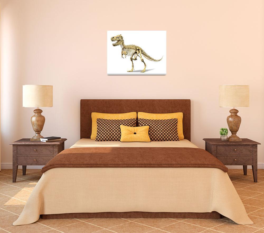 """3D rendering of a Tyrannosaurus Rex dinosaur skele""  by stocktrekimages"