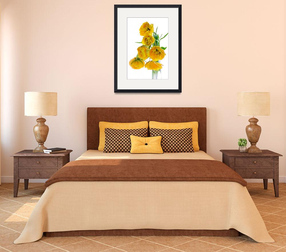 """""""Vase of Yellow Tulips&quot  (2008) by AnnG"""