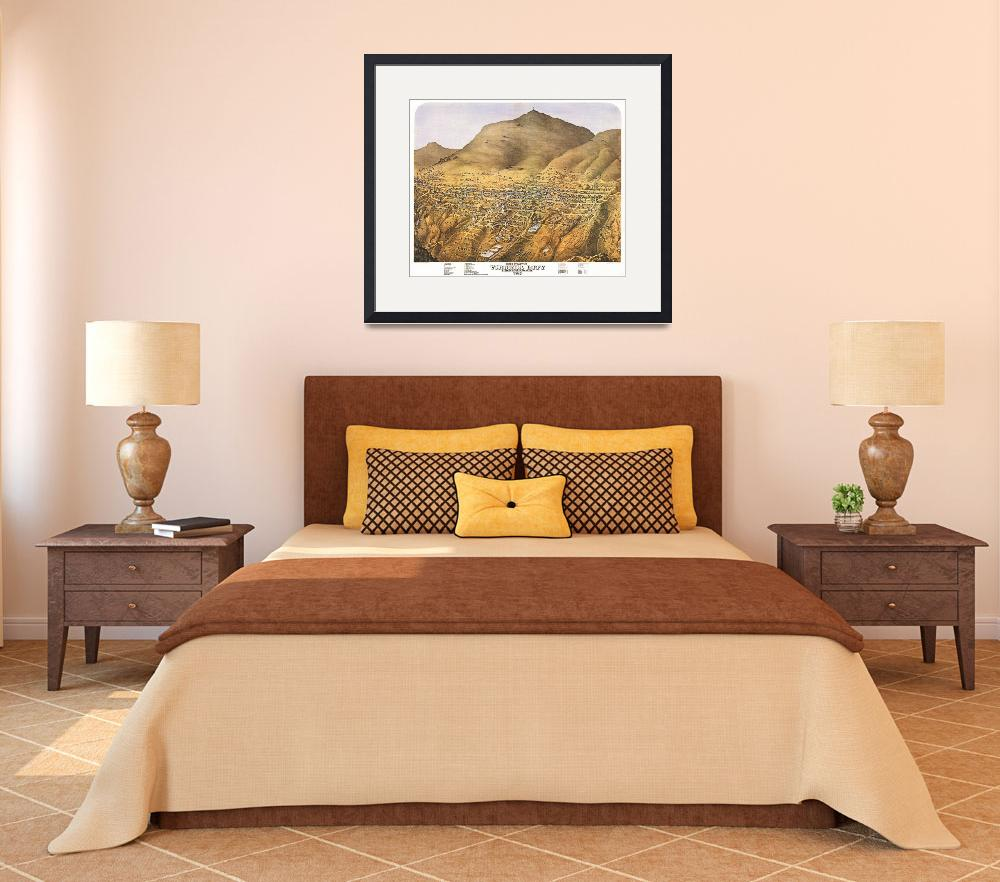 """""""Virginia City Nevada Panoramic Map&quot  by ArtLoversOnline"""