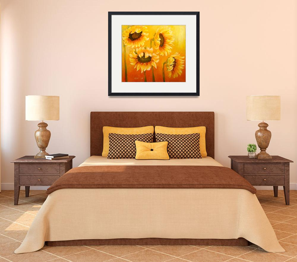 """""""Lovely sunflowers&quot  (2012) by art-miri"""