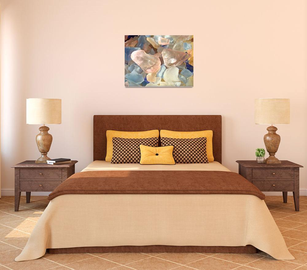 """Seaglass Designs Pink Blue Orange Sea Glass Beach""  (2014) by BasleeTroutman"