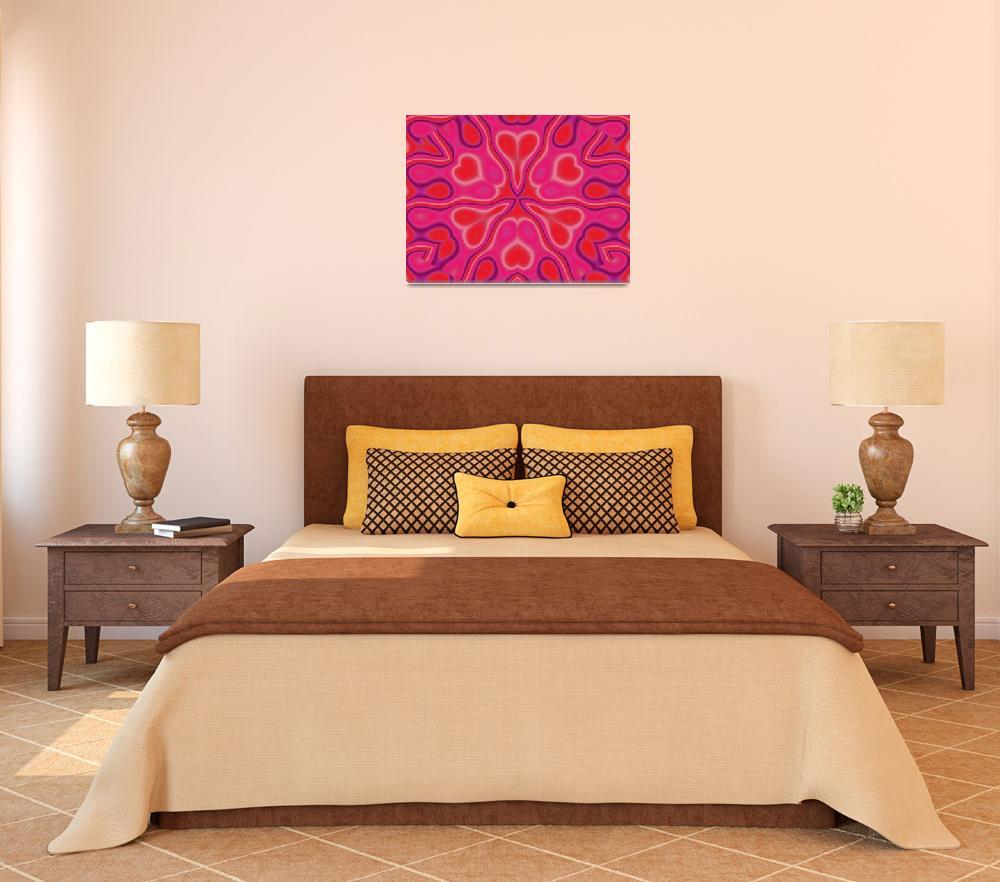 """California Wildflower In Pink and Red""  by Atlantis-Seeker-Art"