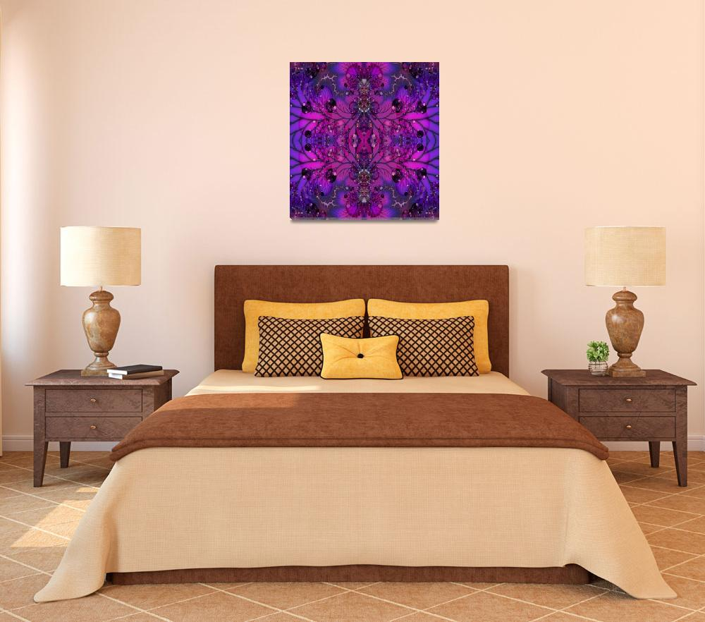 """""""Purple Psychadelic Fractal&quot  (2011) by SharsImagination"""