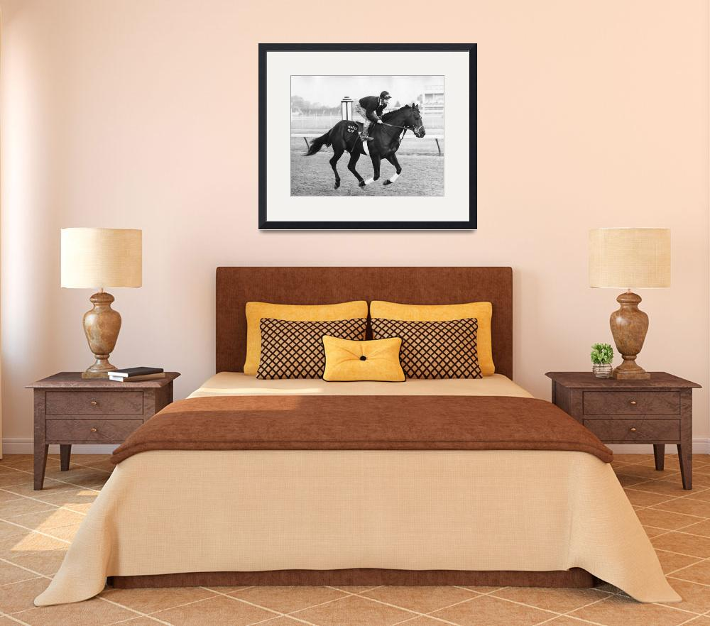 """""""Seattle Slew Horse Racing #03&quot  by RetroImagesArchive"""